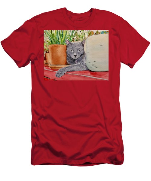 Louie In An Urban Jungle Men's T-Shirt (Athletic Fit)