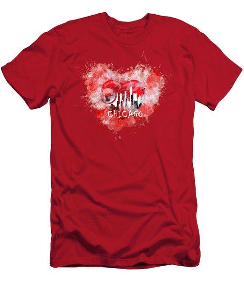 Love Chicago Colors Men's T-Shirt (Athletic Fit)