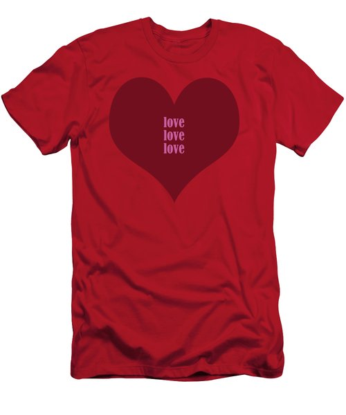 Love Love Love Men's T-Shirt (Athletic Fit)