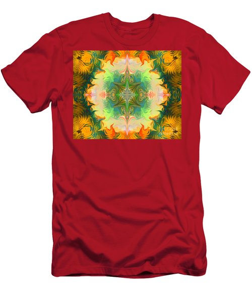 Men's T-Shirt (Athletic Fit) featuring the painting Mandala 12 8 2018 by Hidden Mountain