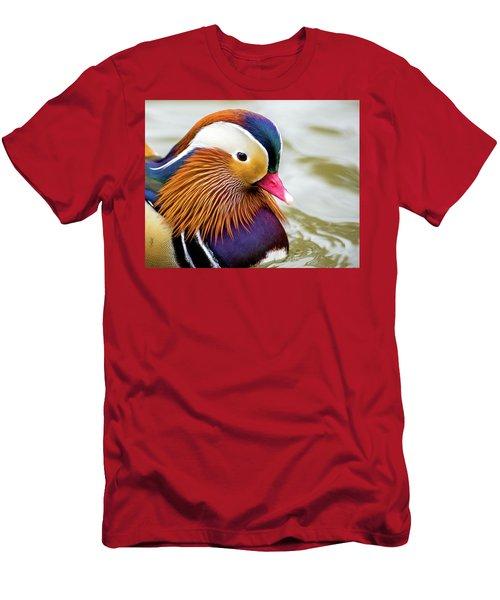 Mandarin Duck Portrait Men's T-Shirt (Athletic Fit)