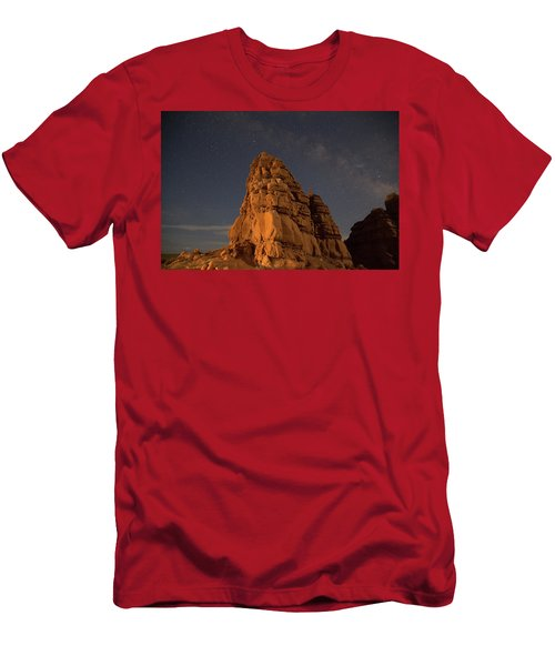 Milky Way On The Rocks Men's T-Shirt (Athletic Fit)