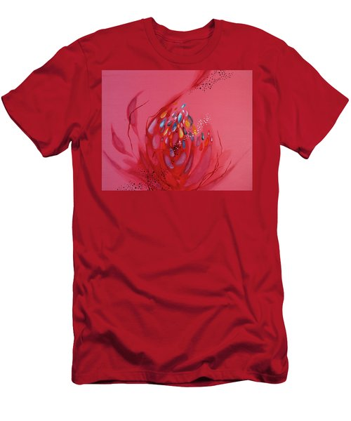 Men's T-Shirt (Athletic Fit) featuring the painting Mind #05 by Natsumi Yamaguchi