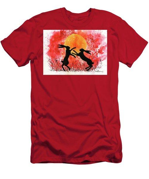 Moon Hares Men's T-Shirt (Athletic Fit)