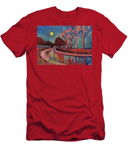 Moon Night At The Canal Men's T-Shirt (Athletic Fit)