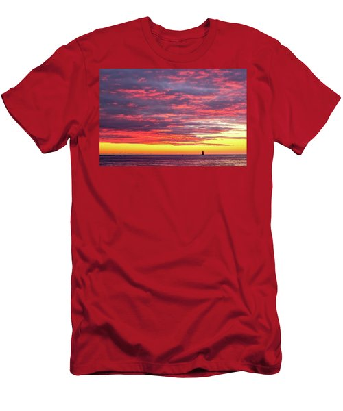 Morning Fire Over Whaleback Light Men's T-Shirt (Athletic Fit)