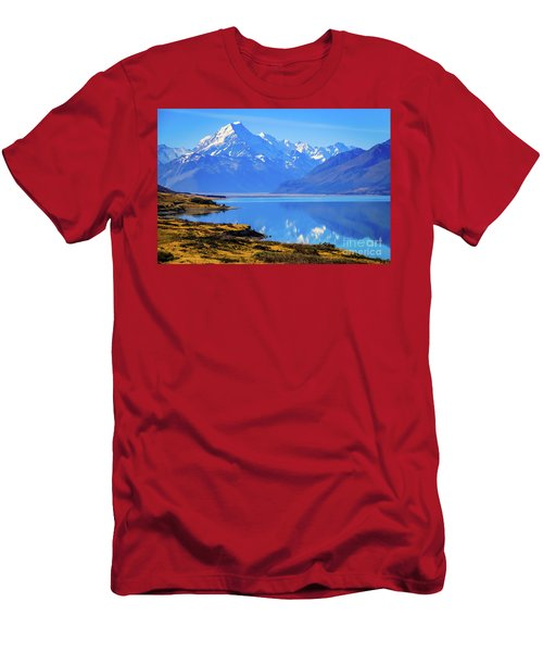 Mount Cook Overlooking Lake Pukaki,  New Zealand Men's T-Shirt (Athletic Fit)
