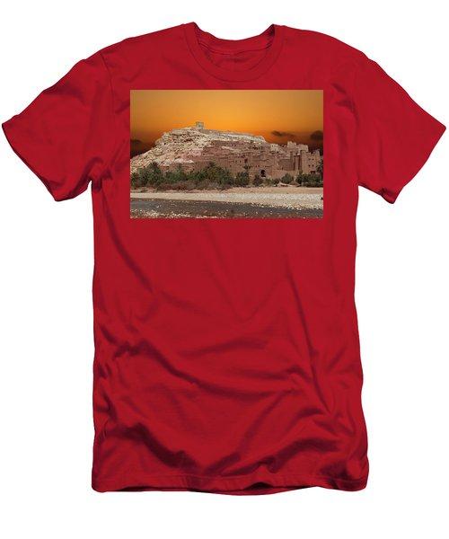 Mud Brick Buildings Of The Ait Ben Haddou Men's T-Shirt (Athletic Fit)