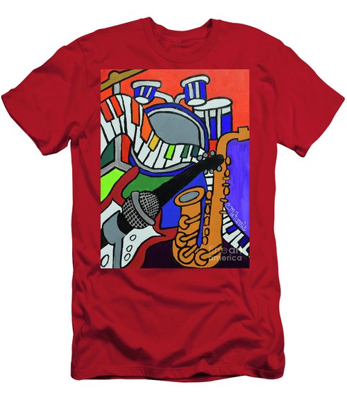 Music Vibes Men's T-Shirt (Athletic Fit)