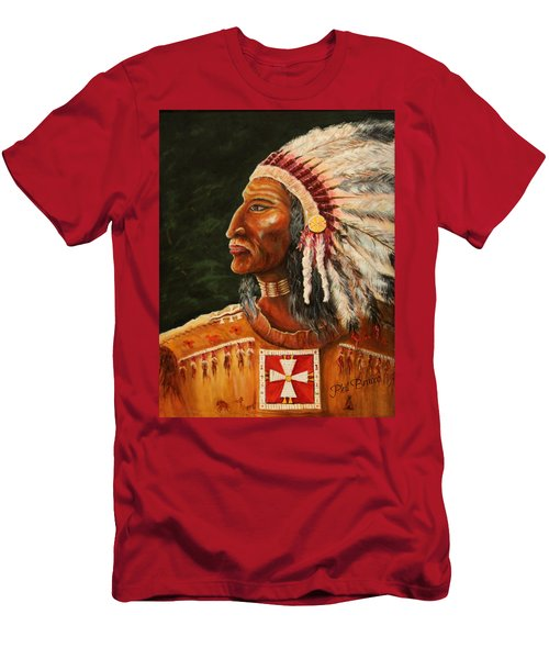 Native American Indian Chief Men's T-Shirt (Athletic Fit)