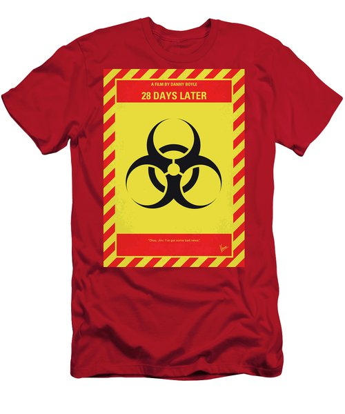 No1029 My 28 Days Later Minimal Movie Poster Men's T-Shirt (Athletic Fit)