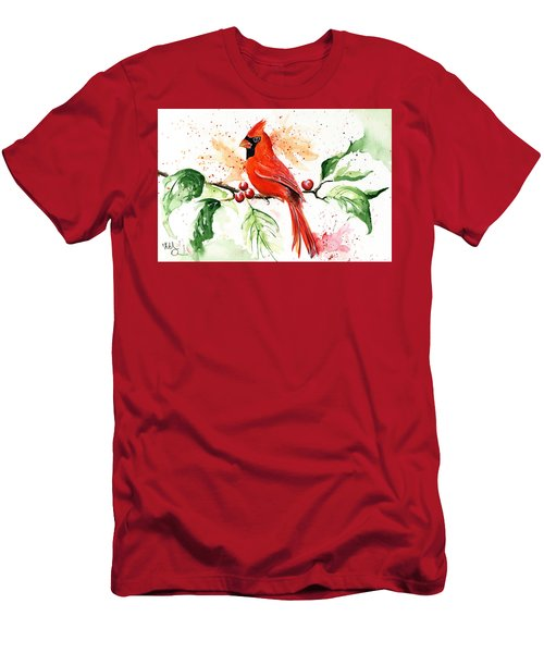 Northern Cardinal Men's T-Shirt (Athletic Fit)