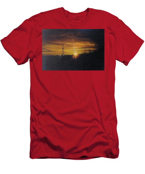 Men's T-Shirt (Athletic Fit) featuring the painting On The Horizon by Tammy Taylor