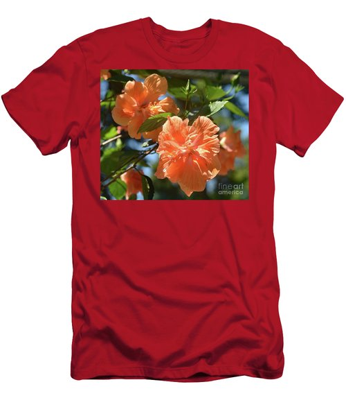 Orange Beauty - Hibiscus Men's T-Shirt (Athletic Fit)