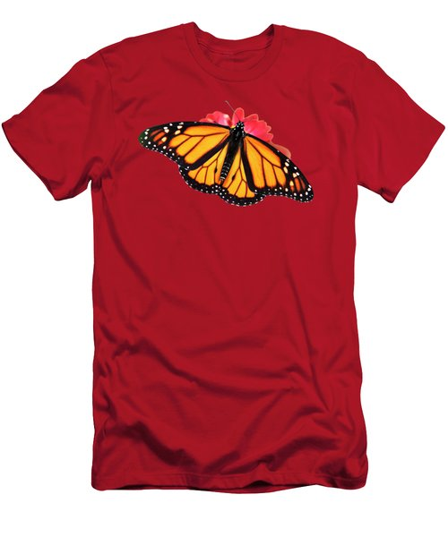 Orange Drift Monarch Butterfly Men's T-Shirt (Athletic Fit)
