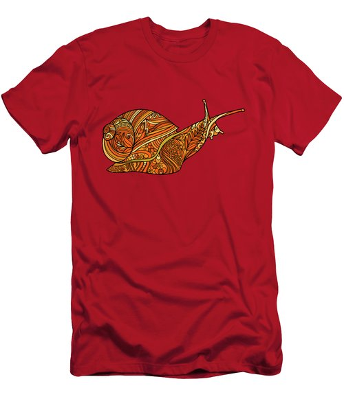 Orange Snail Men's T-Shirt (Athletic Fit)