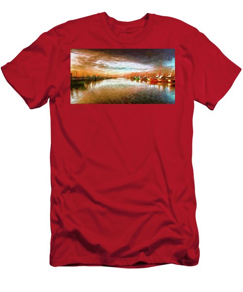Outer Banks Fishing Boats At Oregon Inlet Ap Men's T-Shirt (Athletic Fit)