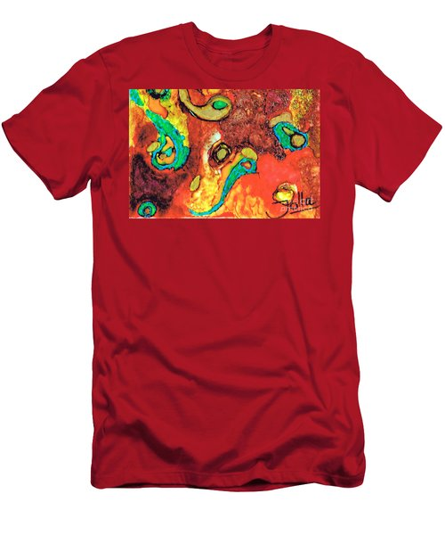 Paisley Whispers.. Men's T-Shirt (Athletic Fit)