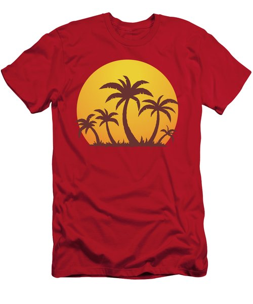 Palm Trees And Sun Men's T-Shirt (Athletic Fit)