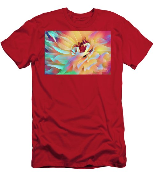 Party Time Dahlia Abstract Men's T-Shirt (Athletic Fit)