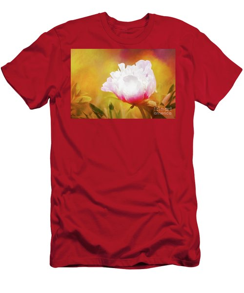 Peony Delight Men's T-Shirt (Athletic Fit)