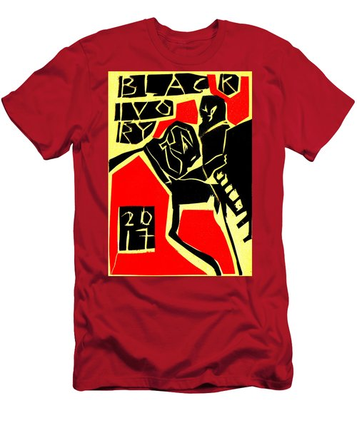 Piano Player Black Ivory Woodcut Poster 31 Men's T-Shirt (Athletic Fit)