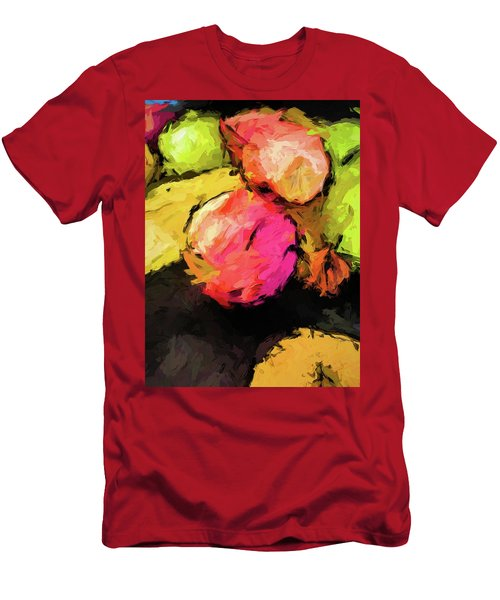 Pink And Green Apples With The Yellow Banana Men's T-Shirt (Athletic Fit)