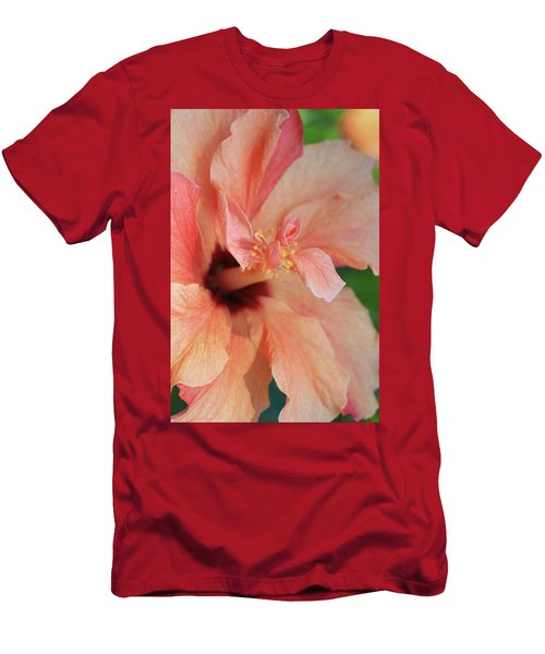 Pink Hibiscus Men's T-Shirt (Athletic Fit)