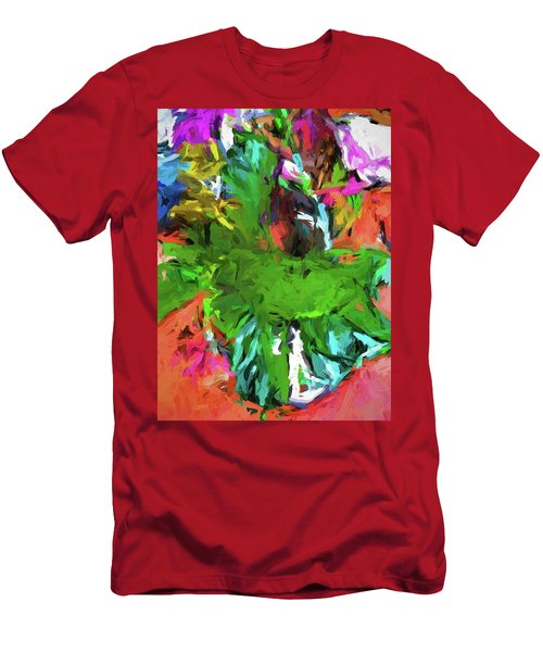 Plant With The Green And Turquoise Leaves Men's T-Shirt (Athletic Fit)