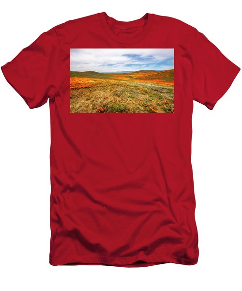 Poppies As Far As The Eye Can See Men's T-Shirt (Athletic Fit)