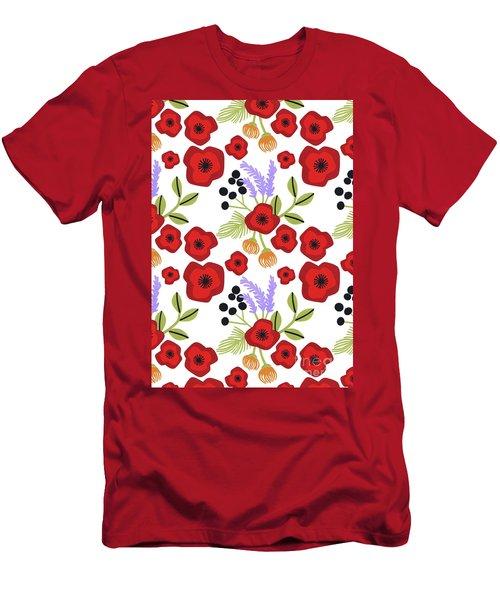 Poppy Print Men's T-Shirt (Athletic Fit)