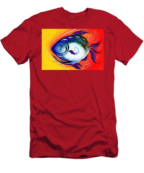 Positive Fish Men's T-Shirt (Athletic Fit)