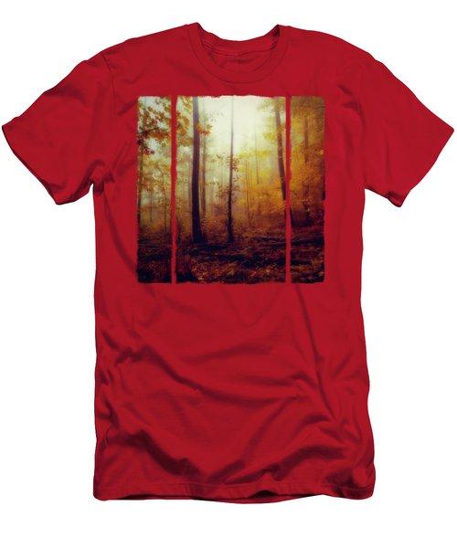 Rainwood - Misty October Forest Men's T-Shirt (Athletic Fit)