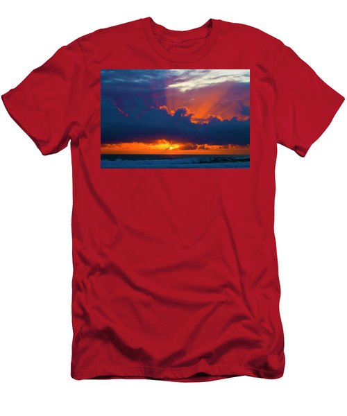 Rays Of Light Over The Ocean Men's T-Shirt (Athletic Fit)