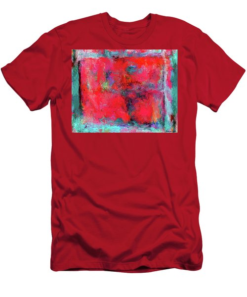 Rectangular Red Men's T-Shirt (Athletic Fit)
