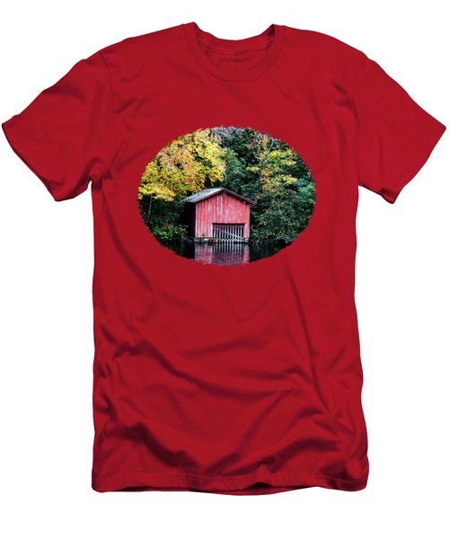 Red Boathouse Men's T-Shirt (Athletic Fit)