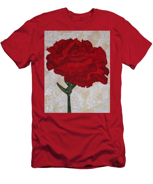 Red Carnation Men's T-Shirt (Athletic Fit)