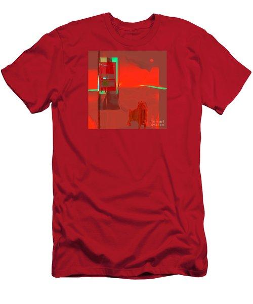 Red Door To Santa Fe Sunset Men's T-Shirt (Athletic Fit)