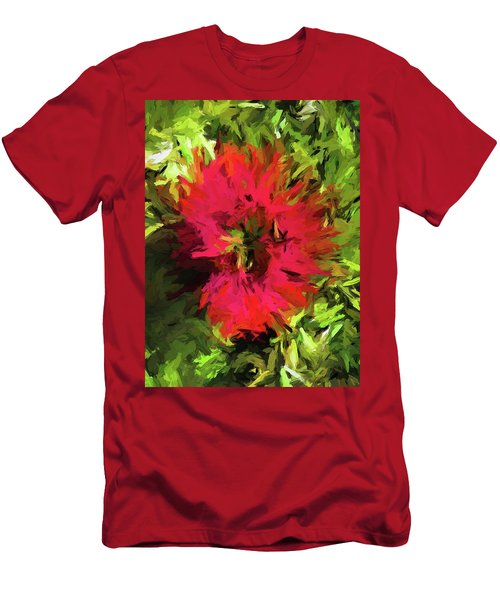 Red Flower Flames Men's T-Shirt (Athletic Fit)