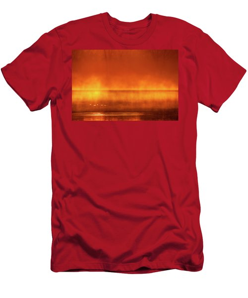 Men's T-Shirt (Athletic Fit) featuring the photograph Red Mist by Jeff Phillippi