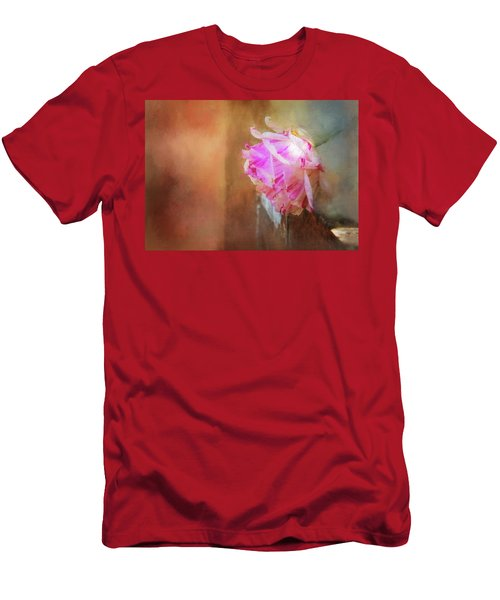 Red Mottled Beauty Men's T-Shirt (Athletic Fit)