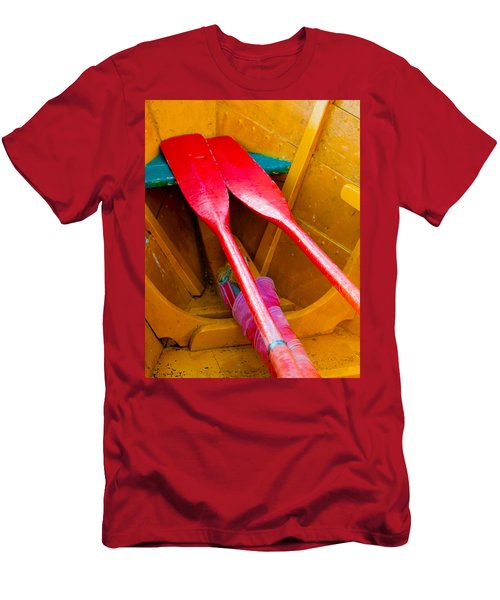 Red Oars Men's T-Shirt (Athletic Fit)