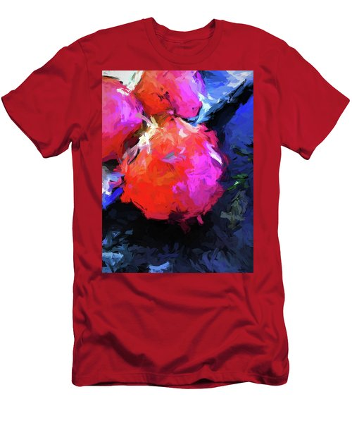 Red Pomegranate In The Blue Light Men's T-Shirt (Athletic Fit)