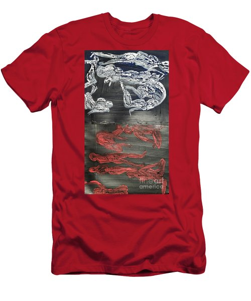 Red Strangles White Cells Men's T-Shirt (Athletic Fit)