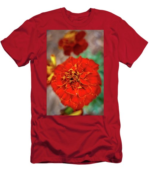 Red Summer Flowers Men's T-Shirt (Athletic Fit)