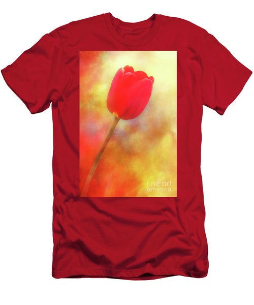 Red Tulip Reaching For The Sun Men's T-Shirt (Athletic Fit)