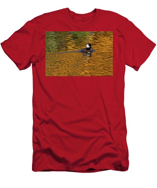 Reflecting With Hooded Merganser Men's T-Shirt (Athletic Fit)