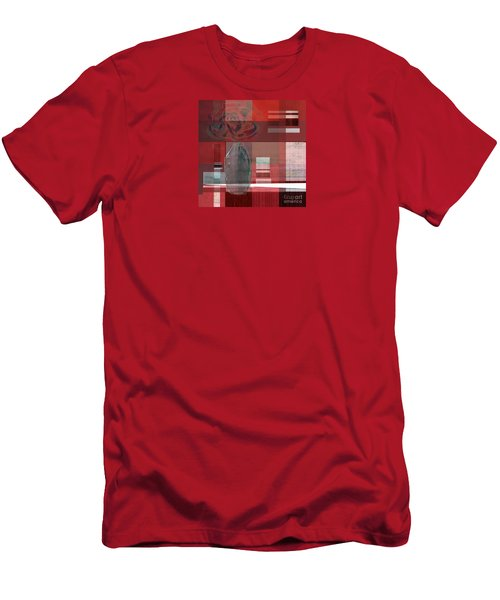 Reflection On A Red Plaid Tablecloth Men's T-Shirt (Athletic Fit)