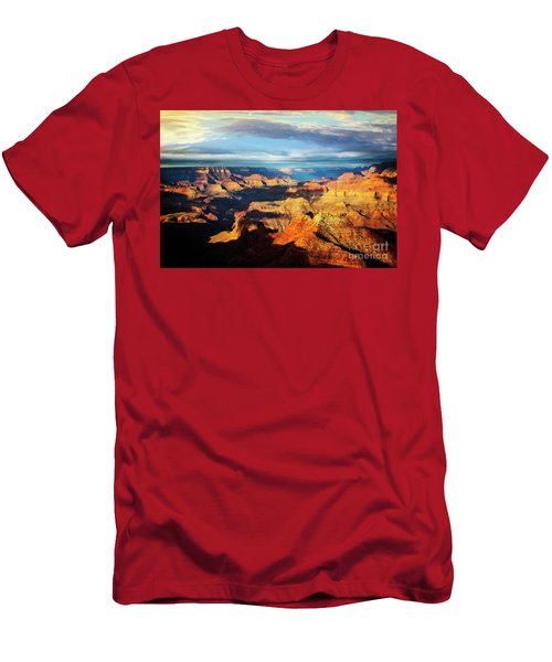 Men's T-Shirt (Athletic Fit) featuring the photograph Rim To Rim by Scott Kemper