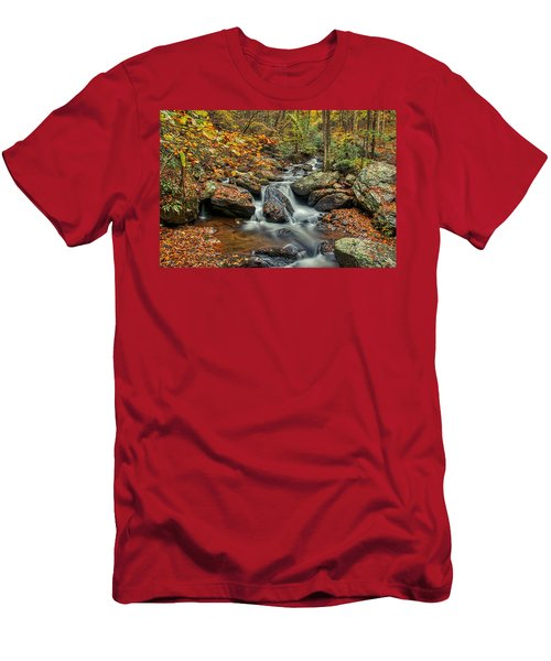 Men's T-Shirt (Athletic Fit) featuring the photograph Rocky Stream by Meta Gatschenberger